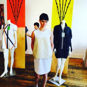 Katie Marsh in Bone at our Pop Up Shop & party