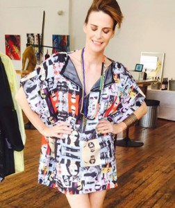 Worn by Annabel Schofield at our Pop-up shop & launch party